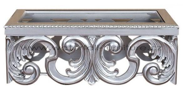 Luxusní stříbrný mahagonový stolek