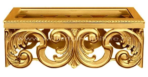 Luxusní zlatý konferenční stolek