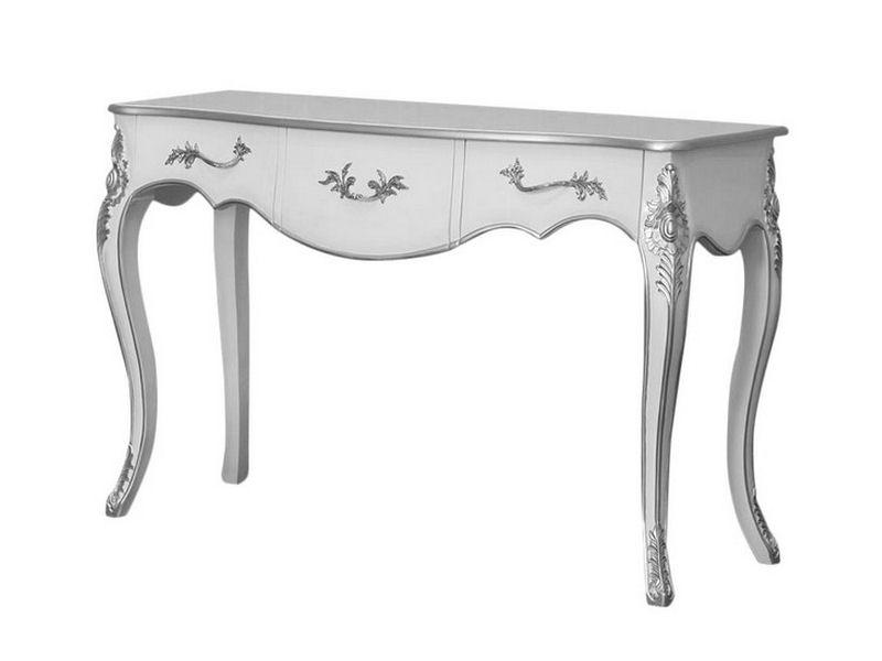 Retro bílý konzolový stolek
