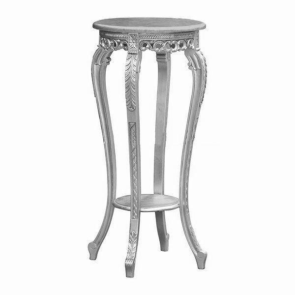 Luxusní stříbrný stolek na květiny Silver Leaf