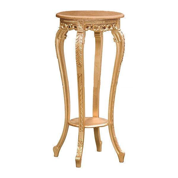 Luxusní zlatý stolek na květiny Gold Leaf