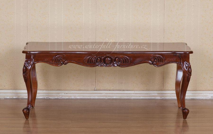 Klasický retro konferenční stolek Walnut