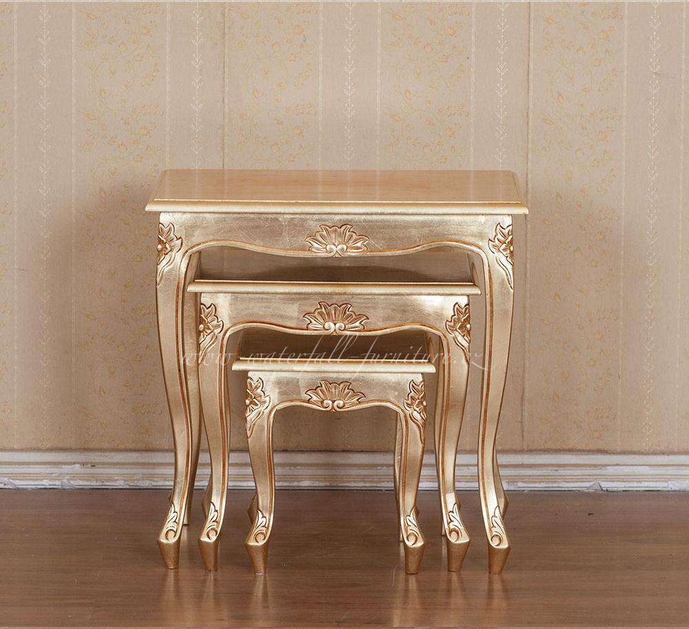 Zlaté odkládací stolky Gold Leaf