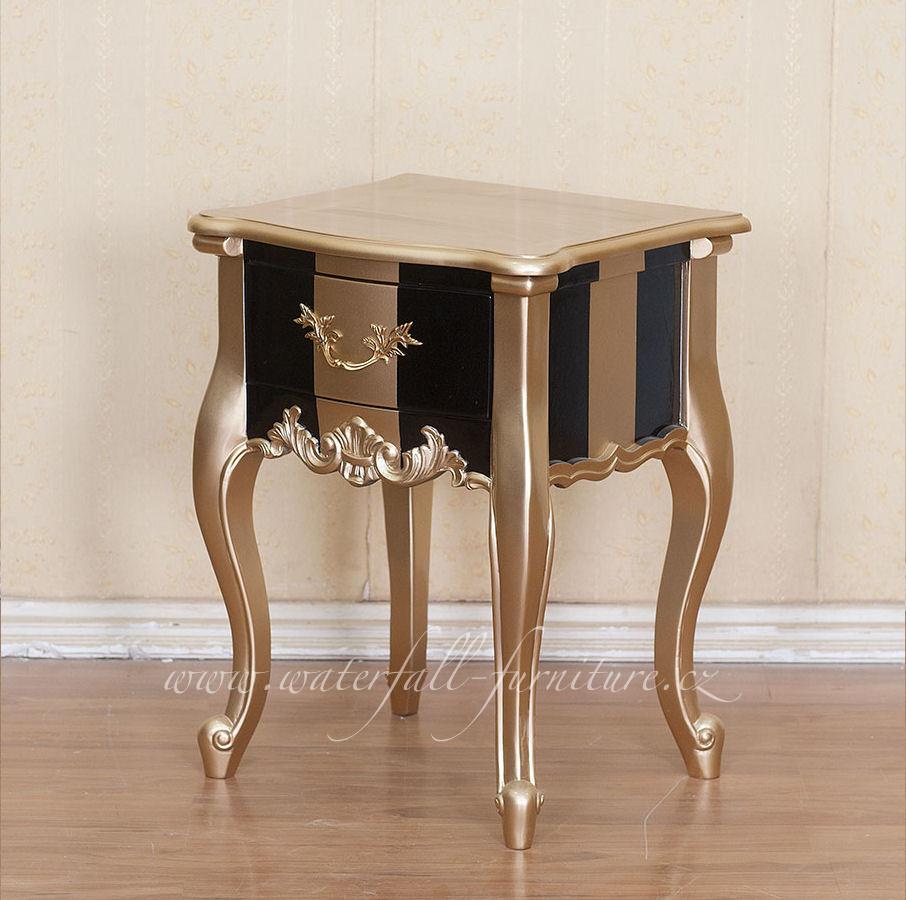Zlatý barokní noční stolek