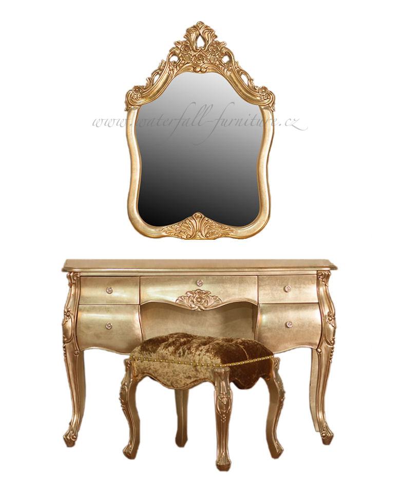 Zlatá zámecká toaletka Gold Leaf